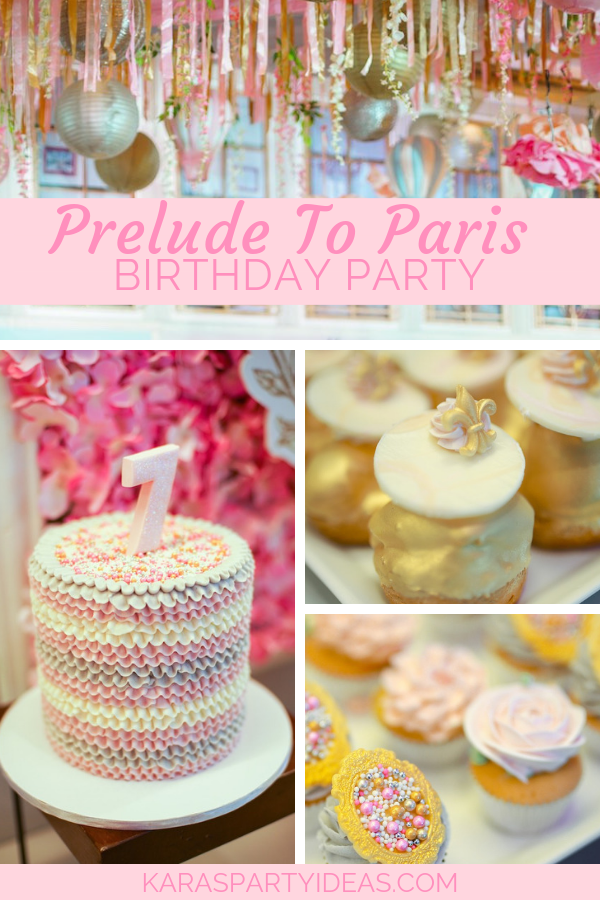 Prelude To Paris Birthday Party via Kara's Party Ideas - KarasPartyIdeas.com