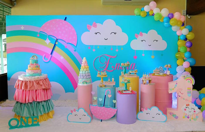 Rainbows & Clouds Birthday Party on Kara's Party Ideas | KarasPartyIdeas.com (11)
