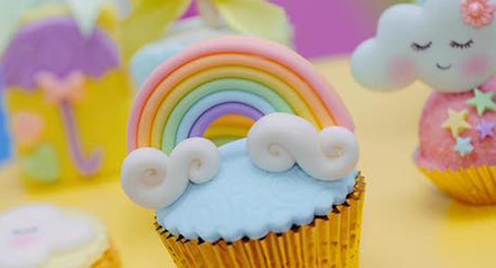 Rainbows & Clouds Birthday Party on Kara's Party Ideas | KarasPartyIdeas.com (1)