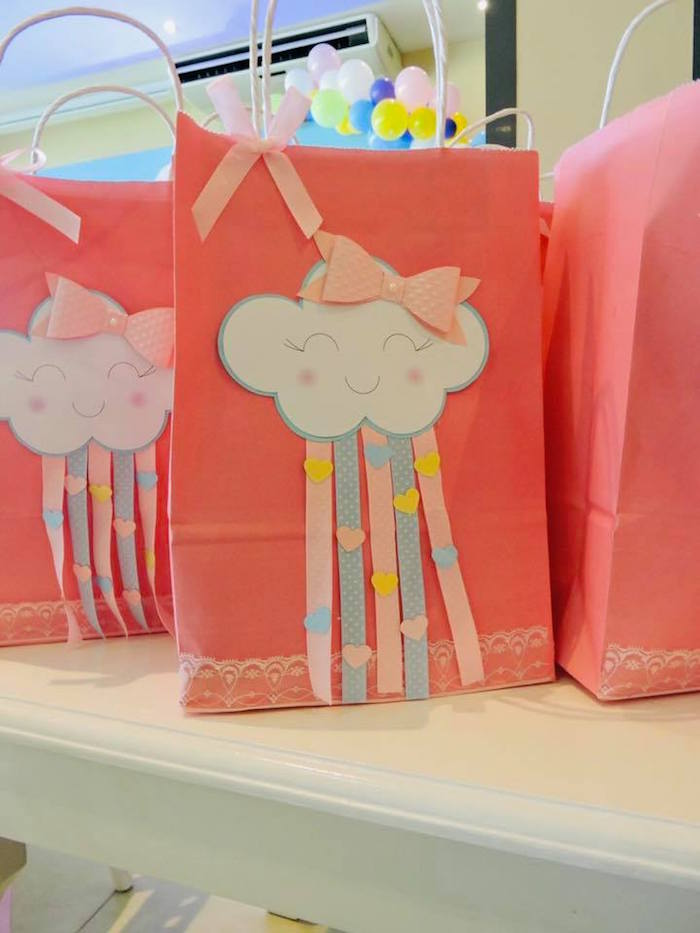 Cloud-adorned Favor Sacks from a Rainbows & Clouds Birthday Party on Kara's Party Ideas | KarasPartyIdeas.com (21)