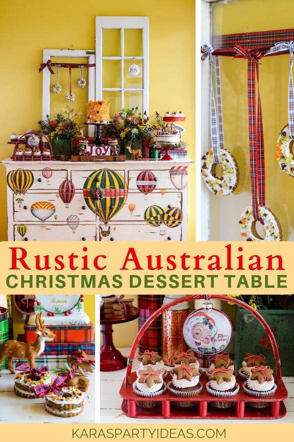 Rustic Australian Christmas Dessert Table via Kara's Party Ideas - KarasPartyIdeas.com