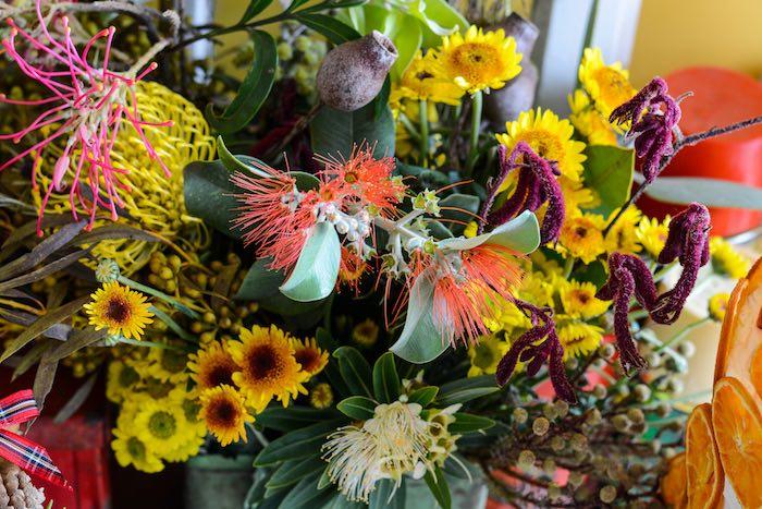 Native Australian Flowers from a Rustic Australian Christmas Dessert Table on Kara's Party Ideas | KarasPartyIdeas.com (26)