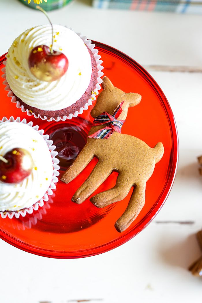 Cupcakes + Ginger Deer Cookies from a Rustic Australian Christmas Dessert Table on Kara's Party Ideas | KarasPartyIdeas.com (21)