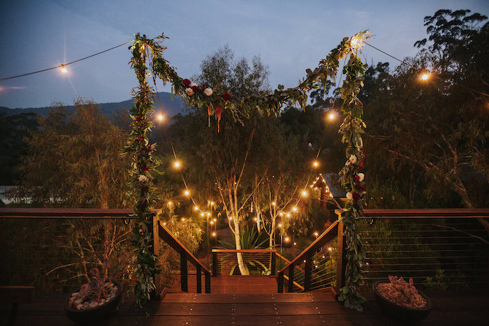 Green Floral Arch Walkway from a Rustic Mountain Wedding on Kara's Party Ideas | KarasPartyIdeas.com (25)
