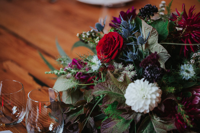 Floral Green Blooms + Table Centerpiece from a Rustic Mountain Wedding on Kara's Party Ideas | KarasPartyIdeas.com (23)
