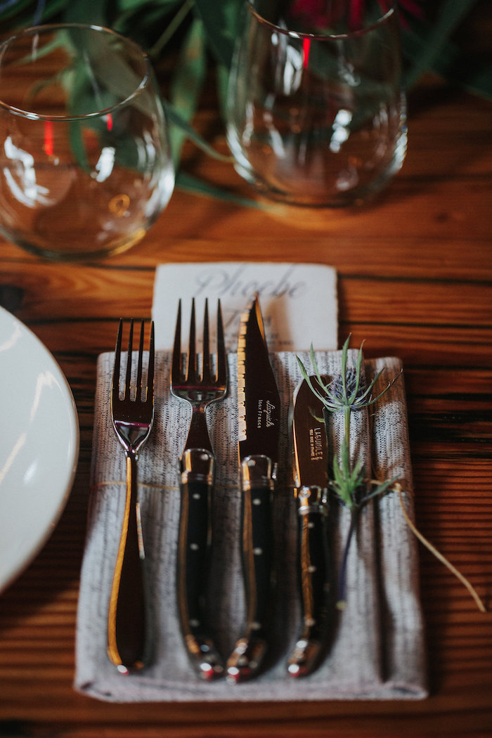 Flatware + Table Setting from a Rustic Mountain Wedding on Kara's Party Ideas | KarasPartyIdeas.com (22)