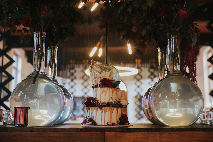 Cake Table from a Rustic Mountain Wedding on Kara's Party Ideas | KarasPartyIdeas.com (15)