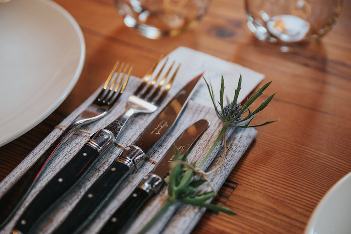 Flatware from a Rustic Mountain Wedding on Kara's Party Ideas | KarasPartyIdeas.com (12)