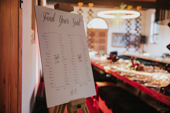 Seating Chart from a Rustic Mountain Wedding on Kara's Party Ideas | KarasPartyIdeas.com (10)