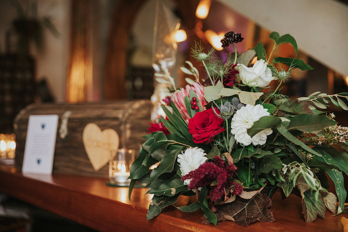 Floral Arrangement from a Rustic Mountain Wedding on Kara's Party Ideas | KarasPartyIdeas.com (8)