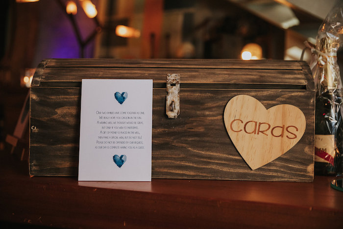 Wood Card Box from a Rustic Mountain Wedding on Kara's Party Ideas | KarasPartyIdeas.com (7)