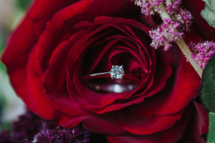 Rings and Red Roses from a Rustic Mountain Wedding on Kara's Party Ideas | KarasPartyIdeas.com (34)