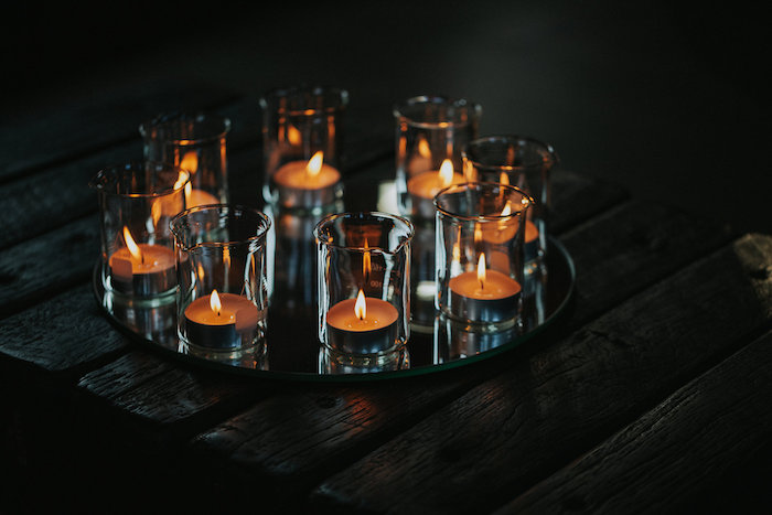 Candles from a Rustic Mountain Wedding on Kara's Party Ideas | KarasPartyIdeas.com (6)