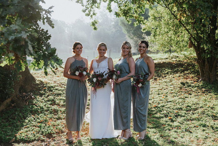 Bridesmaids from a Rustic Mountain Wedding on Kara's Party Ideas | KarasPartyIdeas.com (33)