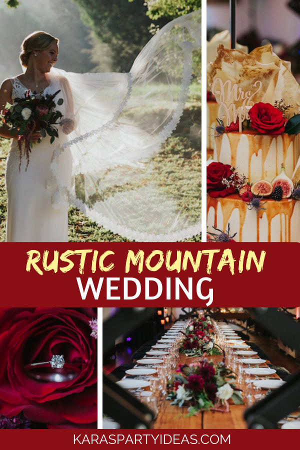 Rustic Mountain Wedding via Kara's Party Ideas - KarasPartyIdeas.com