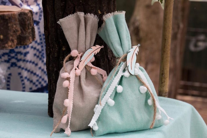 Woodland Favor Sacks from a Rustic Woodland Baptism on Kara's Party Ideas | KarasPartyIdeas.com (21)