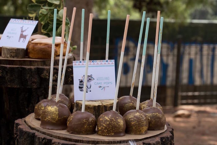 Woodland Cake Pops from a Rustic Woodland Baptism on Kara's Party Ideas | KarasPartyIdeas.com (16)