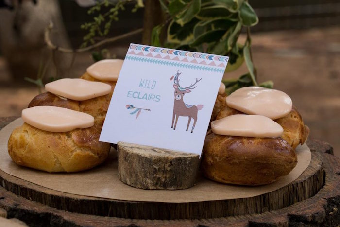 Wild Woodland Eclairs from a Rustic Woodland Baptism on Kara's Party Ideas | KarasPartyIdeas.com (15)