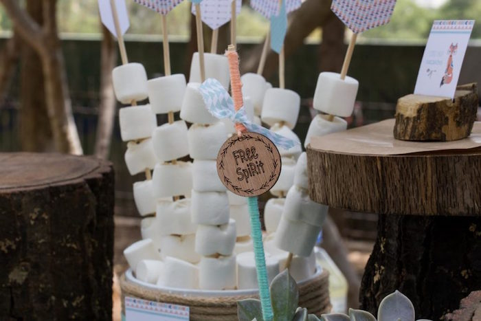 Free Spirit Arrow Marshmallow Pops from a Rustic Woodland Baptism on Kara's Party Ideas | KarasPartyIdeas.com (14)