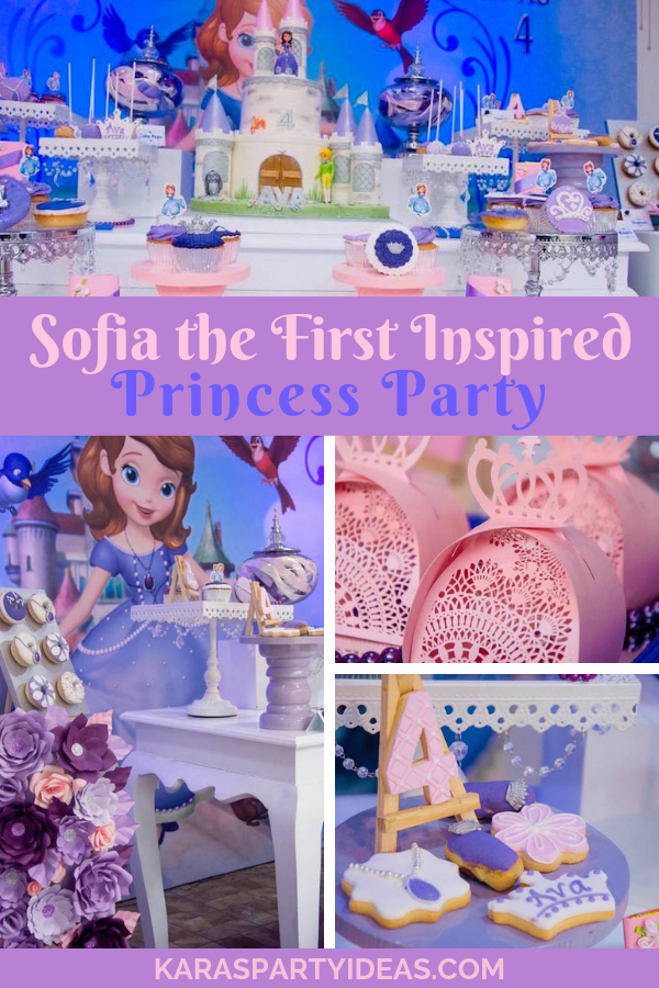Sofia the First Inspired Princess Party via Kara's Party Ideas - KarasPartyIdeas.com