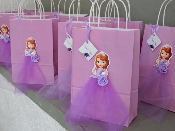 Sofia the First Gift Bags from a Sofia the First Inspired Princess Party on Kara's Party Ideas | KarasPartyIdeas.com (12)
