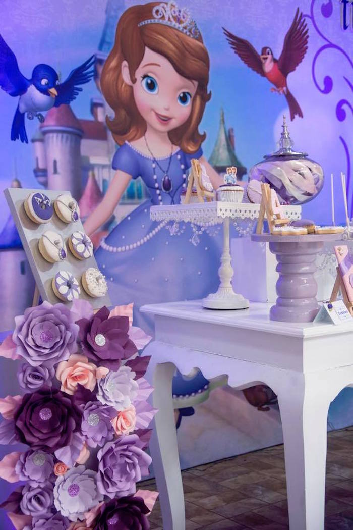 Sofia the First Party Table from a Sofia the First Inspired Princess Party on Kara's Party Ideas | KarasPartyIdeas.com (8)