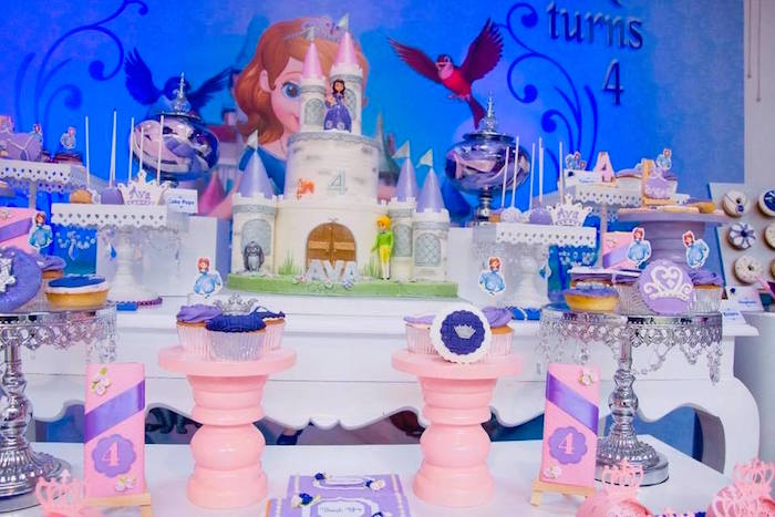 Princess Themed Dessert Table from a Sofia the First Inspired Princess Party on Kara's Party Ideas | KarasPartyIdeas.com (6)