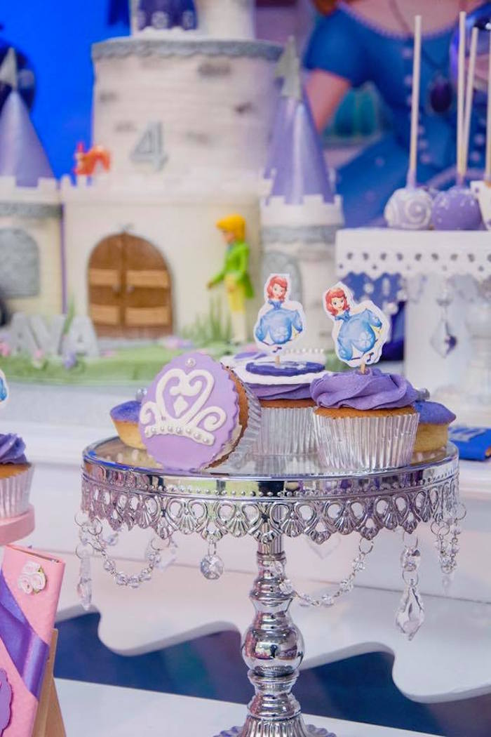 Sofia the First Cupcakes from a Sofia the First Inspired Princess Party on Kara's Party Ideas | KarasPartyIdeas.com (4)