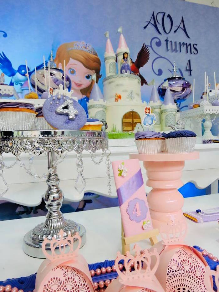 Cupcakes & Candy Bars from a Sofia the First Inspired Princess Party on Kara's Party Ideas | KarasPartyIdeas.com (21)