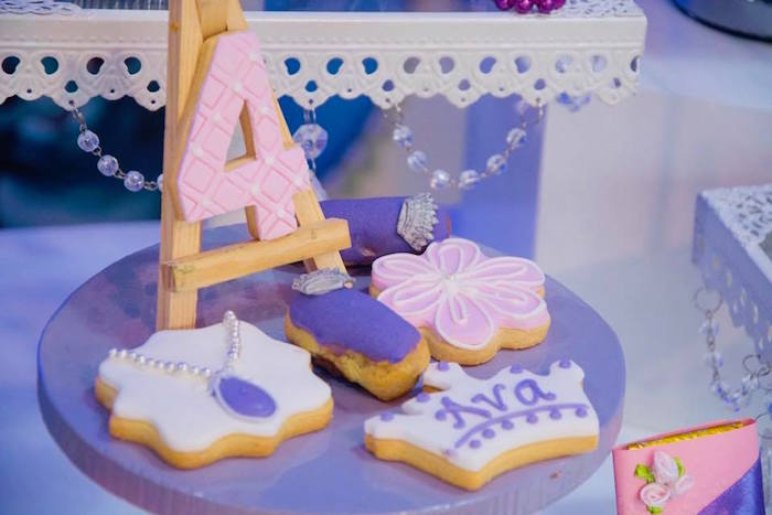 Sofia the First Cookies from a Sofia the First Inspired Princess Party on Kara's Party Ideas | KarasPartyIdeas.com (19)