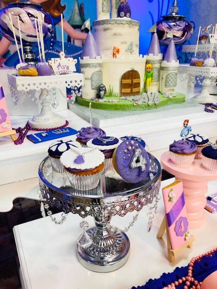 Sofia the First Cupcakes from a Sofia the First Inspired Princess Party on Kara's Party Ideas | KarasPartyIdeas.com (18)