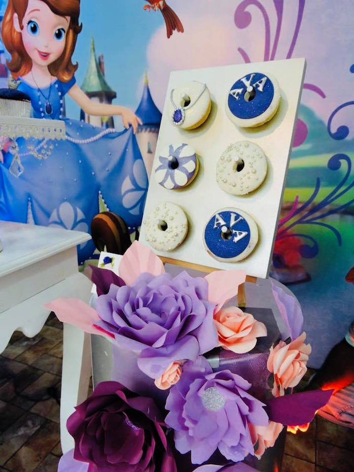 Sofia the First Donuts from a Sofia the First Inspired Princess Party on Kara's Party Ideas | KarasPartyIdeas.com (17)