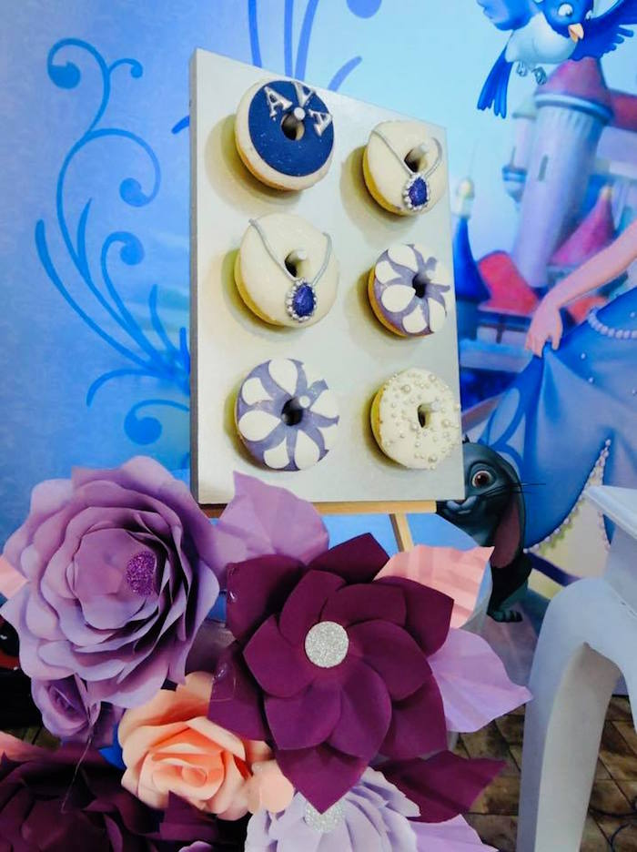 Sofia the First Donuts from a Sofia the First Inspired Princess Party on Kara's Party Ideas | KarasPartyIdeas.com (16)