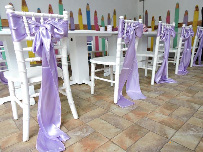 Purple Chair Ties from a Sofia the First Inspired Princess Party on Kara's Party Ideas | KarasPartyIdeas.com (15)