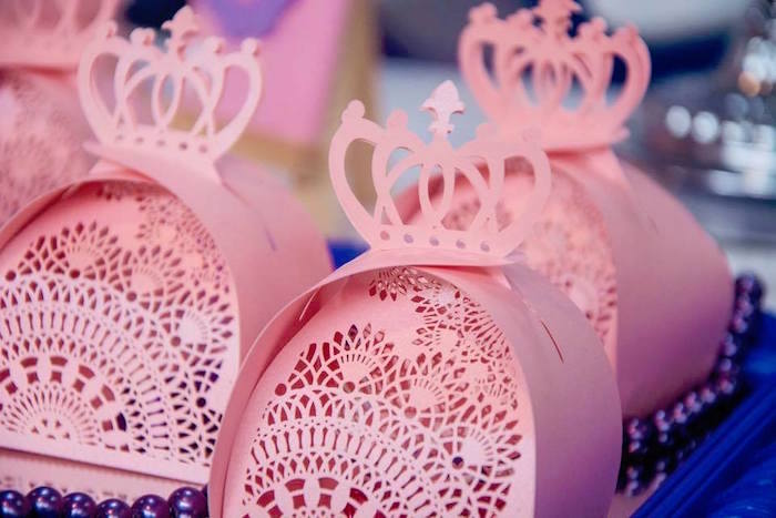Princess Crown Boxes from a Sofia the First Inspired Princess Party on Kara's Party Ideas | KarasPartyIdeas.com (13)