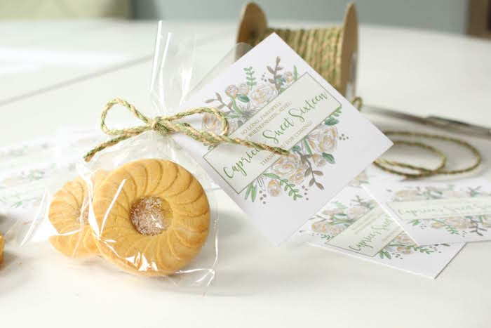 Cookie Favor from a Sound of Music Inspired 16th Birthday Party on Kara's Party Ideas | KarasPartyIdeas.com (25)