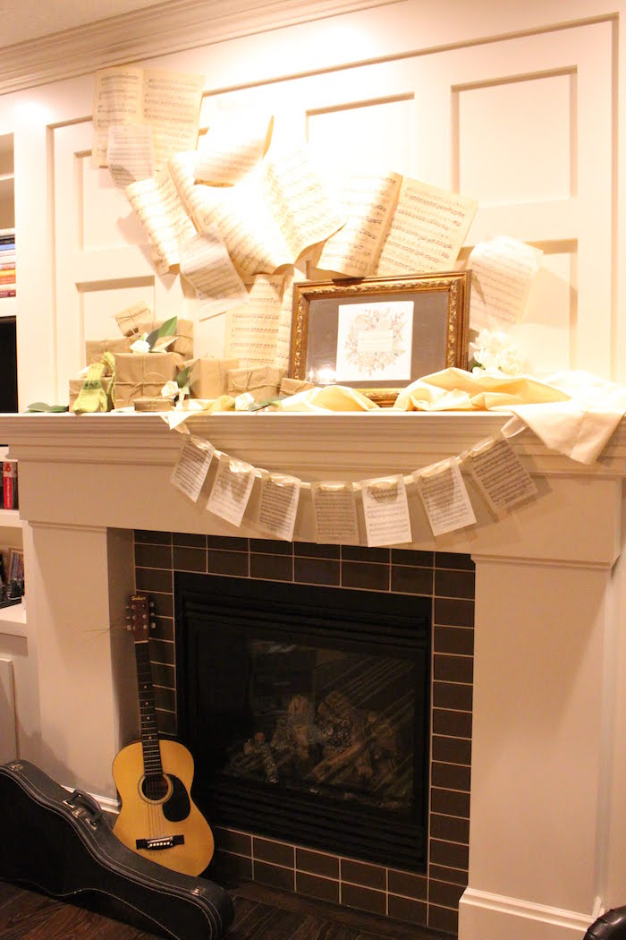 Sound of Music-inspired Fireplace from a Sound of Music Inspired 16th Birthday Party on Kara's Party Ideas | KarasPartyIdeas.com (23)