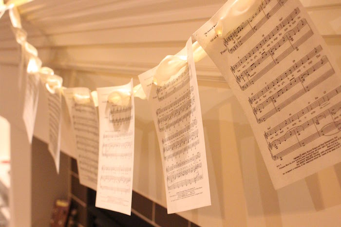 Sheet Music Banner + Garland from a Sound of Music Inspired 16th Birthday Party on Kara's Party Ideas | KarasPartyIdeas.com (22)