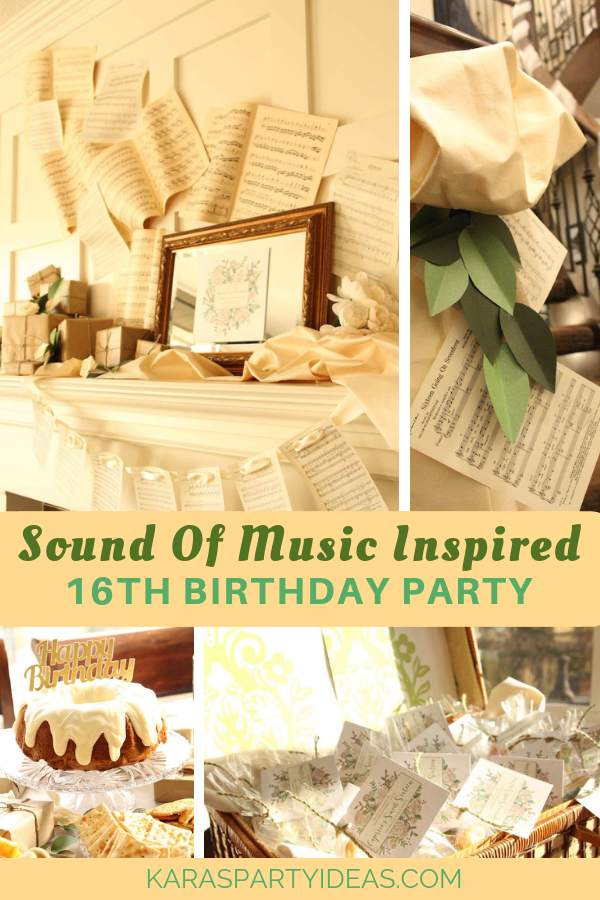 Sound of Music Inspired 16th Birthday Party via Kara's Party Ideas - KarasPartyIdeas.com