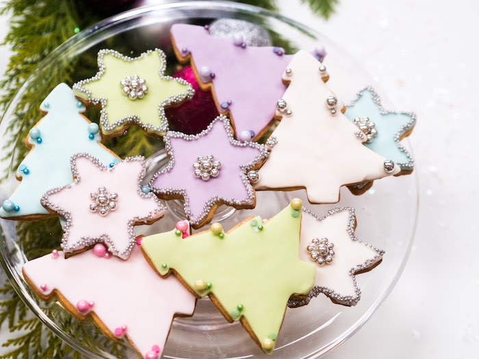 Christmas Tree & Snowflake Cookies from a Sparkle & Shine Christmas Party on Kara's Party Ideas | KarasPartyIdeas.com (35)