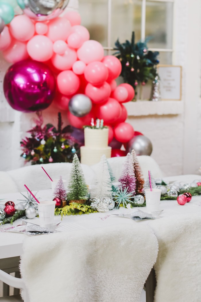 Christmas Party Guest Table from a Sparkle & Shine Christmas Party on Kara's Party Ideas | KarasPartyIdeas.com (44)