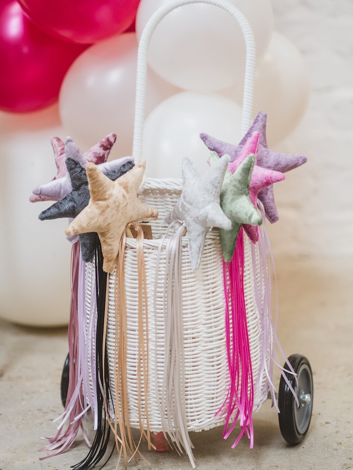 Plush Velvet Star Tassel Wands from a Sparkle & Shine Christmas Party on Kara's Party Ideas | KarasPartyIdeas.com (24)