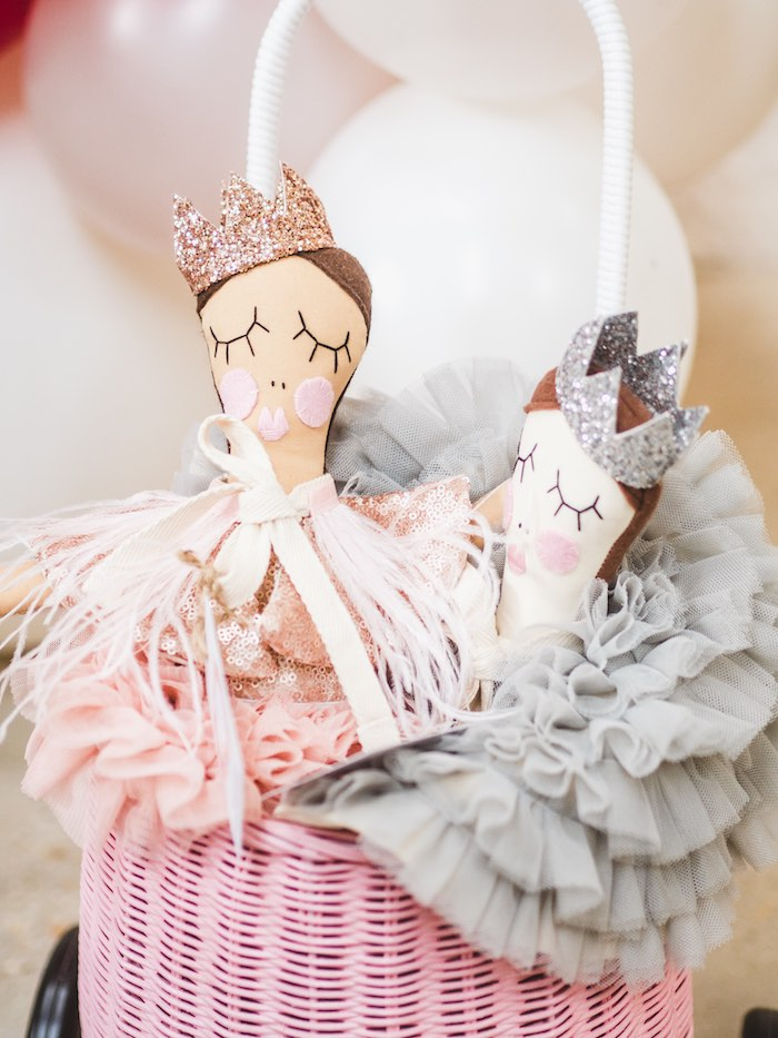 Fabric Dolls from a Sparkle & Shine Christmas Party on Kara's Party Ideas | KarasPartyIdeas.com (21)