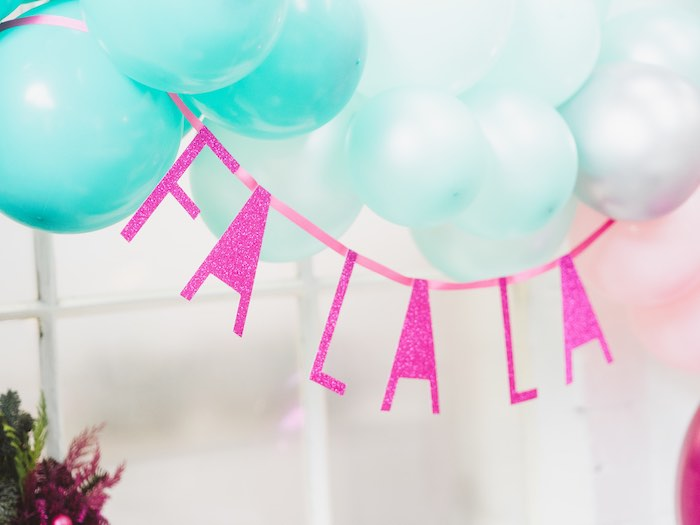 Fa La La Banner from a Sparkle & Shine Christmas Party on Kara's Party Ideas | KarasPartyIdeas.com (18)