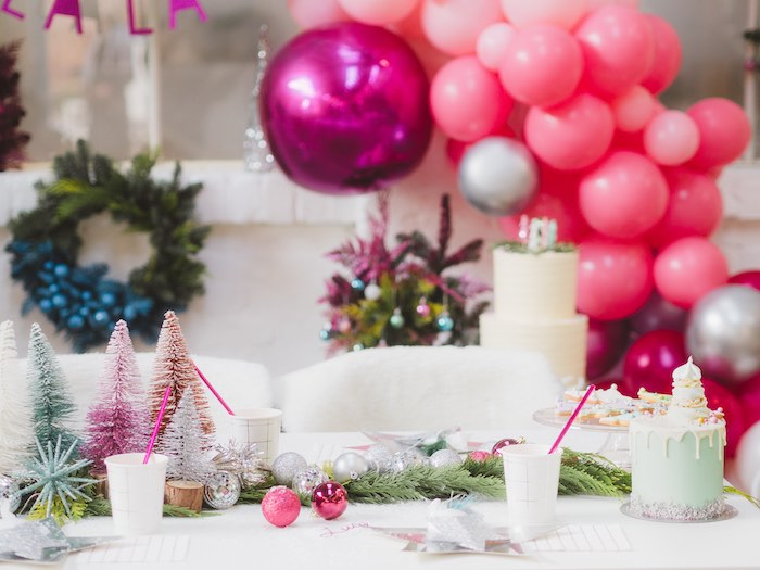 Christmas Guest Table from a Sparkle & Shine Christmas Party on Kara's Party Ideas | KarasPartyIdeas.com (16)