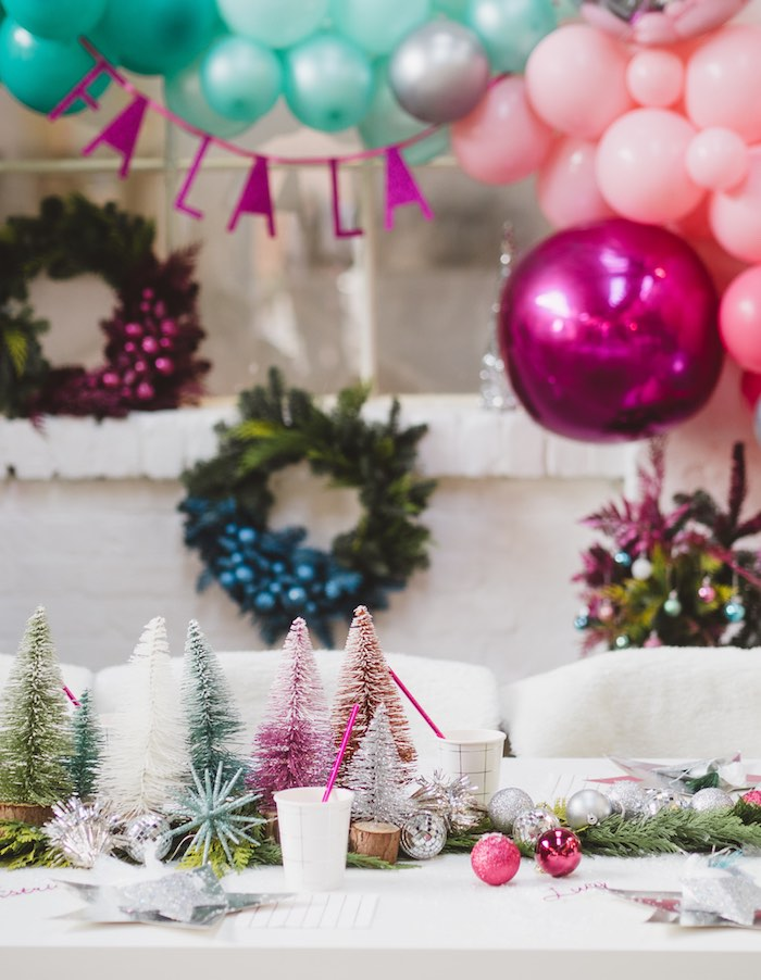 Christmas Guest Table from a Sparkle & Shine Christmas Party on Kara's Party Ideas | KarasPartyIdeas.com (15)