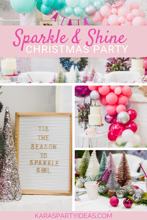 Sparkle & Shine Christmas Party via Kara's Party Ideas - KarasPartyIdeas.com