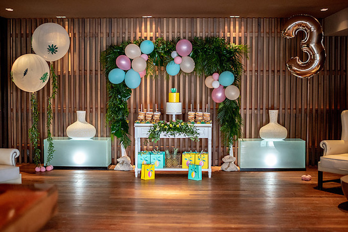 Tropical Pineapple Birthday Party on Kara's Party Ideas | KarasPartyIdeas.com (3)