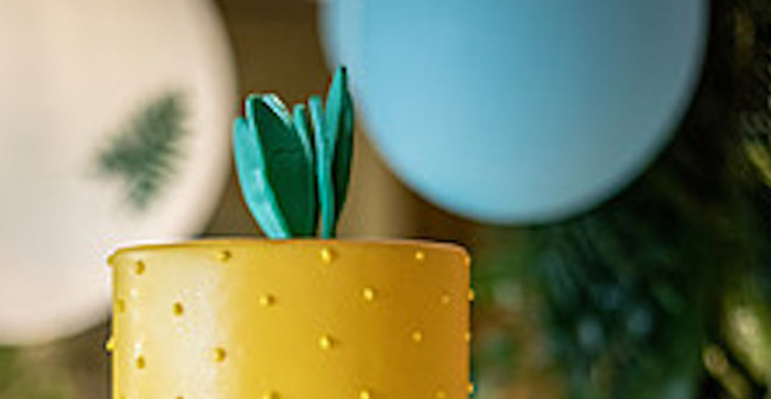 Tropical Pineapple Birthday Party on Kara's Party Ideas | KarasPartyIdeas.com (1)