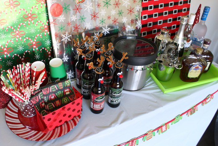 Ugly Sweater-inspired Food Bar from a DIY Ugly Sweater Holiday Party on Kara's Party Ideas | KarasPartyIdeas.com